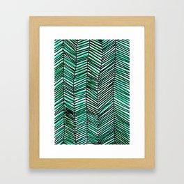 Jungle green pattern Framed Art Print