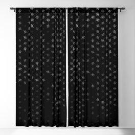 leo zodiac sign pattern bw Blackout Curtain