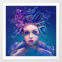 queen Art Prints featuring Queen by Alessandro Pautasso