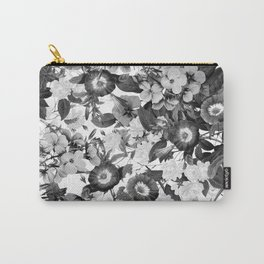 Night Garden Black and White Carry-All Pouch