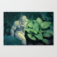 bigfoot Canvas Prints featuring Bigfoot Sighted by Lyle Hatch