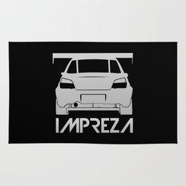 Subaru Impreza - silver - Rug