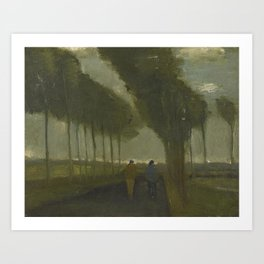 Country Lane with Two Figures.jpg Art Print