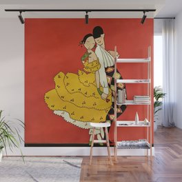 """""""Harlequin Dancer"""" by Annie Fish Wall Mural"""