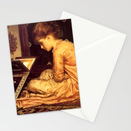 """Frederic Leighton """"Study at a Reading Desk"""" Stationery Cards"""