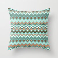 aztec Throw Pillows featuring Aztec by Priscila Peress