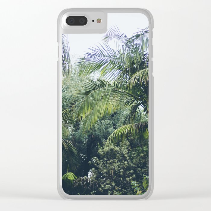 Palm Trees in a Tropical Garden Clear iPhone Case