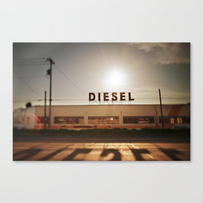 Diesel Canvas Print