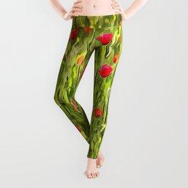 Flanders Poppies Leggings