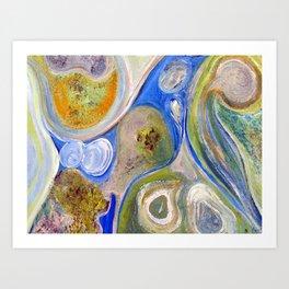 Symphony in Blue Art Print