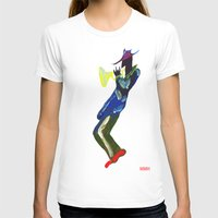 trumpet T-shirts featuring Trumpet Man by Myles Hunt