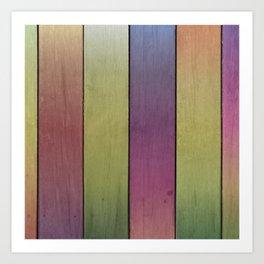 Wood Plank Colormix Art Print