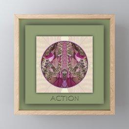 Action Manifestation Mandala No. 4 Framed Mini Art Print