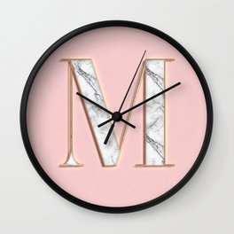 M letter monoram Wall Clock