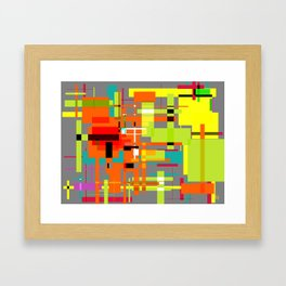 Lines and Sqaures Framed Art Print