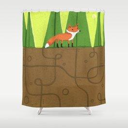 Earth Fox Shower Curtain