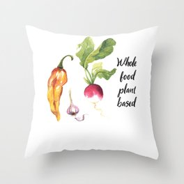 Whole Food Plant Based Throw Pillow