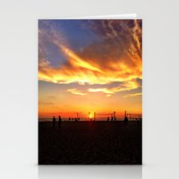 "volleyball Stationery Cards featuring Hermosa Beach ""Volleyball"" by Arturo Garcia"