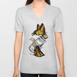 Vile Butterflies Unisex V-Neck