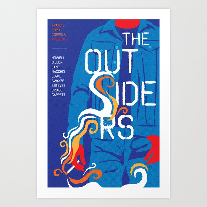 80s TEEN MOVIES :: THE OUTSIDERS Art Print