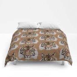 Tiger Head Pattern Comforters