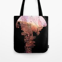 david Tote Bags featuring Secret Streets by David Fleck