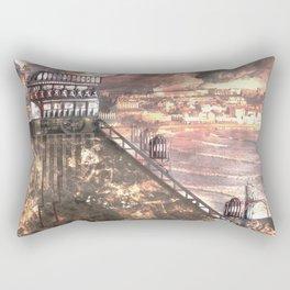 Future Funicular (Steampunk Scarborough Seafront) Rectangular Pillow