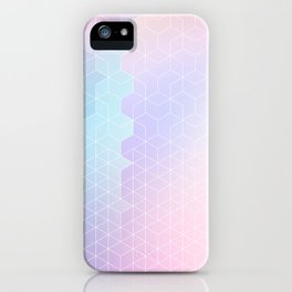 Geometric pastel vibes pattern 1 #pattern #decor #abstractart iPhone Case