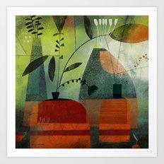 LAYERED VASES Art Print