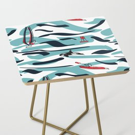 A Day on the Water Side Table