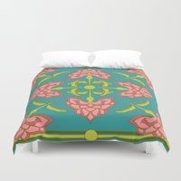 flora Duvet Covers featuring Flora by nandita singh