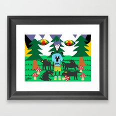 Bad trip in the park with the dogs high laughing at me  Framed Art Print