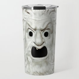 Angry Theater Mask Travel Mug