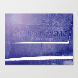Avenue of escape Canvas Print