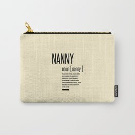 Nanny Definition Grandma Mothers Day Gifts Women  Carry-All Pouch