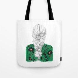 Braid in Green Tote Bag