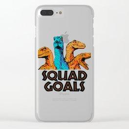 Squad Goals Clear iPhone Case