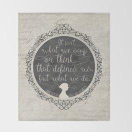 Sense And Sensibility - It's What You Do Throw Blanket