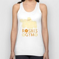 gym Tank Tops featuring roshi's gym by Louis Roskosch