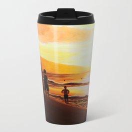 Pipeline Golden Sunset - Hawaii Metal Travel Mug