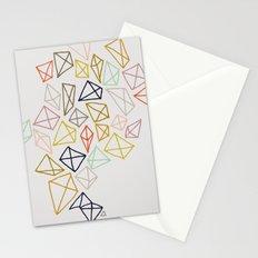 multicolor diamonds Stationery Cards