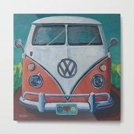 'Bohemian Dream' Hippie Van Art V W Van art, V W bus art Metal Print