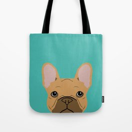 French BUlldog portrait dog breed custom pet portraits by pet friendly frenchie Tote Bag