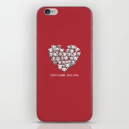Just Love. (white text) iPhone Skin