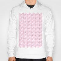 herringbone Hoodies featuring Herringbone Pink by Project M