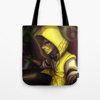 bill cipher Tote Bags featuring Human Bill Cipher by NMLove