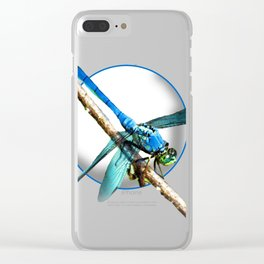 Blue Dragonfly Clear iPhone Case