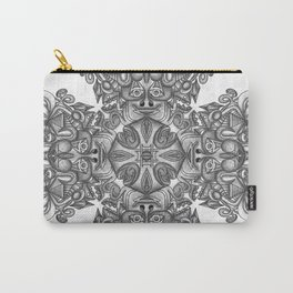 black, white and gray  Carry-All Pouch