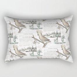 Paris Cockatoo Toile Rectangular Pillow