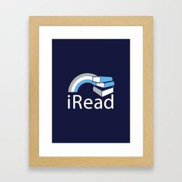 i Read   Book Nerd Slogan Framed Art Print